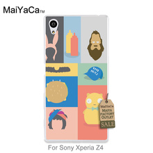 Unique Luxury Hard Silicon phone case Funny Bobs Burgers Series Illustrations For Sony Xperia z4 case