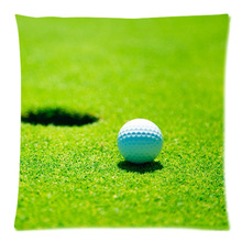 Cotton Linen Golf Ball Custom Cushion Cover Decoractive Pillow Cover Throw Pillow Case kids Gift 45X45CM
