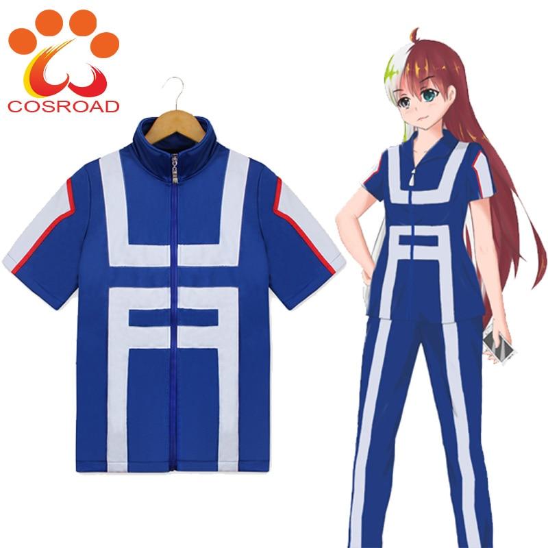 Cosroad Anime Boku No Hero Academia Gym suit High School Uniform Todoroki Shoto Gym suit Uniforms Men Women Cosplay