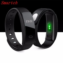 Buy Smartch QS80 SmartBand Heart Rate Monitor Blood Pressure Monitor Smart Wristband Fitness Tracker Smart Bracelet IOS Android for $15.86 in AliExpress store