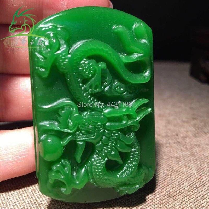 Free Delivery Natural green jadeite jade 3D round money dragon luck Belt buckle