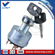 SINOCMP Ignition Switch with 2 Keys for Daewoo DH220-2 DH220-3 DH220-5 Excavator(China)