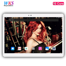 DHL Free shipping 10 inch 10 core tablet pc Android 7.0 RAM 4GB ROM 64GB 1920x1200 IPS Dual SIM Card bluetooth tablets 10 10.1(China)
