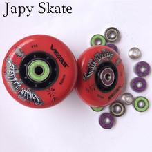 Japy Skate A Set SEBA Street Invaders Skating Wheels With Bearings 84A Roller  FSK Slalom Skates Wheel with ILQ-9 ILQ-11 84A