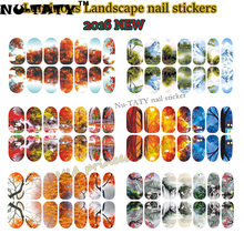 Nu-TATY Poetic Landscape Art Nail Sticker 12 Model 14pcs/set Decals Summer style makeup gel polish beauty tools manicure(China)