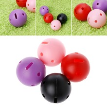 1Pcs Thick Hollow Golf Balls Colorful Kids Playing Toy Indoor Outdoor Training(China)