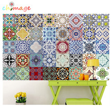 Mediterranean style Self Adhesive Tile Art Wall Decal Sticker DIY Kitchen Bathroom Home Decor Vinyl B(China)