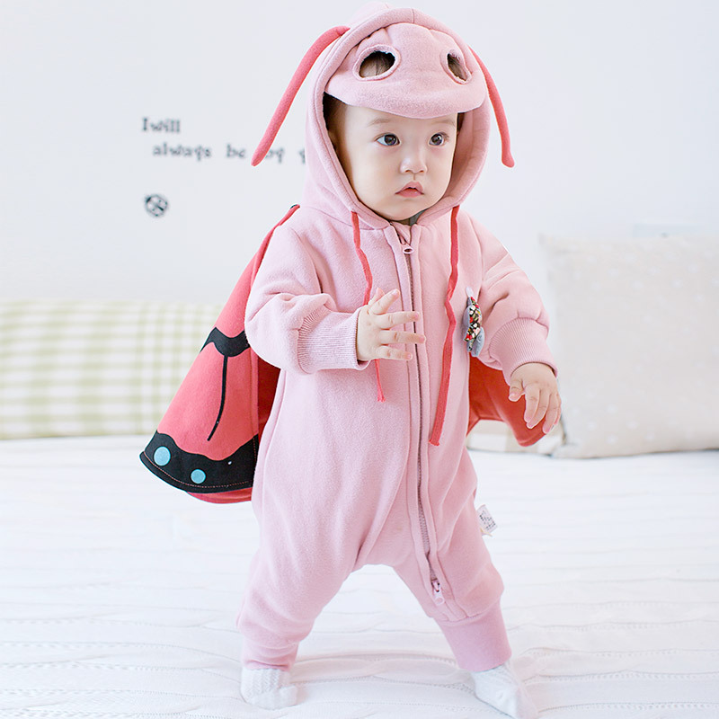 2016 winter girls personality thickened rompers clothing Coveralls Newborns baby girl boys clothes Overalls Cartoon Butterfly<br><br>Aliexpress