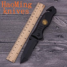Mini fishing Multifunctional folding knife 440C black fixed knives camping survival Rescue SOG tactical hunting outdoor tool EDC(China)