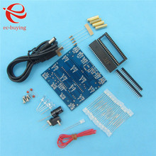 51 Monolithic Integrated circuit DIY Electronics Design Kit Cube 4*4*4 Colorful Light Squared(China)