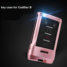 3D Alloy Auto Remote Control Smart Key Cover Case Holder Bag Keychain Fit For Cadillac B Escalade SRX  SLS Car Accessories