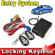 2016 Hot Sale Car Auto Remote Central Kit Door Lock Locking Vehicle Keyless Entry System With Remote Controllers Newest