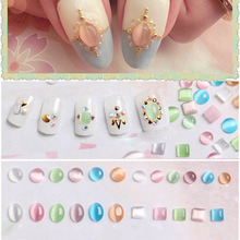 100PCS hottest Japanese nail art style opal cat's eye stone for nail art diy decorate