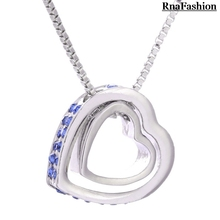 Wholesale Austria Crystal Rhinestones charms heart necklace personalized jewelry Eternal Love Honey For WomenCasual and Fashion