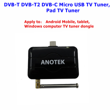 DVB-T2 Micro USB TV receiver Watch DVB T2 DVB-T DVB-C TV on Android Phone/Table/Windows computer /Pad USB TV Tuner Pad TV stick