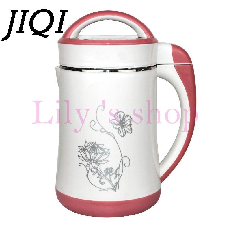 JIQI 1.3L Soymilk machine household Soyabean Milk Maker Stainless Steel filter-free heating soy beans Milk juicer Grain grinding<br>