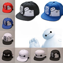 Lovely Big Hero 6 Baymax hip hop hat gorras hats  Women men kids baseball caps Parent child boys Girls casquette hats