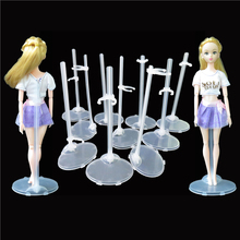 10 Pcs/Lot  Translucent Doll Stand Display Holder Model Mannequin Display Accessories For Barbie Doll Stand Best Baby Toys.