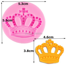 F1003 Free Shipping Silicone 3d Imperial Crown Fondant Silicone Sugar Craft Molds DIY Cake Decorating