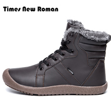 배 New Roman Men 겨울 Boots 남성 눈 Ankle Boots 방수 Warm 퍼 캐주얼 Boot 화 Chaussure Homme Plus Size 36 ~ 48(China)