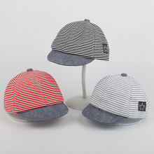 Toddler Kid Baby Girl Boy Fedora Hat 2017 New Hot Sale Jazz Cap Photography Cotton Trilby Striped Cap Baby Bebes Caps For 0-3Y(China)