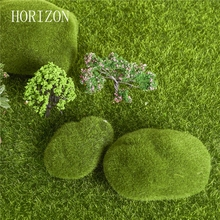 3 pcs Hot Sale Green Artificial Moss Decorative Crafts Home Ornament Bonsai Succulent Gnomes Micro Landscape Decoration