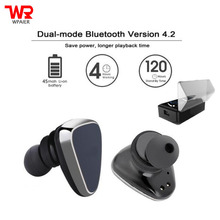 Buy WPAIER HT-E1 Wireless Bluetooth headphones outdoor sport mini headsets Super endurance universal type earphone charge box for $26.52 in AliExpress store