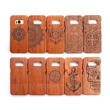 Wooden Protector Cover Shell Natural Well Made Slim Wood Carved Bamboo Case For Samsung Galaxy S8 S5 Neo i9600 S8+ Plus S7 Edge(China)