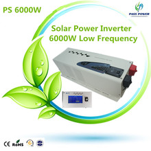 2016 low frequency power inverter 6000w inverter 24vdc to 220vac transformer inverter off-grid pure sine waveform(China)