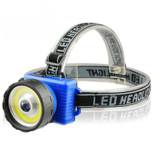 New Ultra Bright COB LED Headlamp 2 Mode Headlamps COB Chip+led headlight Torch AA Head Torch Lanterna for Hiking Camping