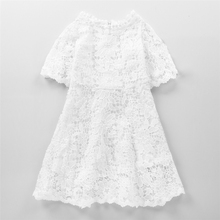 Buy New Cute Baby Girls Princess Lace Dress Kids White Dress Children Princess Tutu Dress Vestidos Girl Costume Flower Girl Robe for $14.49 in AliExpress store
