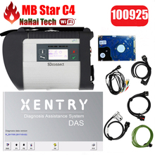 DHL Free Full Chip 2017.5 Xentry MB Star C4 Sd Connect for Benz car & truck Auto Diagnostic-tool (12V+24V) WIFI SD Diagnosis(China)
