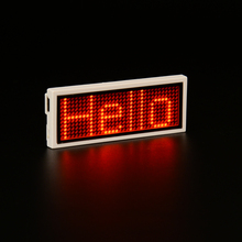 Programmable Red LED Name badge LED name tag digital display  digital badge LED Sign Scrolling ,FREE DRIVE 1133