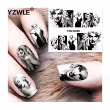YZWLE 1 Sheet DIY Decals Nails Art Water Transfer Printing Stickers Accessories For Manicure Salon  YZW-8489