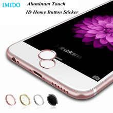 IMIDO 5Pcs/lot Aluminum Touch ID Home Button Sticker for iPhone 7/6/6S/6 Plus SE/5S with Fingerprint Identification Function(China)