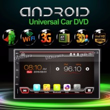 Quad core 2 din android 2din New universal Car Radio Double Car DVD Player GPS Navigation In dash Car PC Stereo video(China)