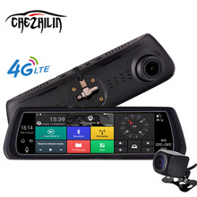 "chezhilin 10"" Full Touch IPS Special 4G Car DVR Camera Android Mirror GPS Bluetooth WIFI ADAS Car Assist Dual Lens Dash Cam"