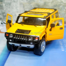 5pcs/pack Wholesale Brand New KT 1/32 Scale USA 2008 Hummer H2 SUV Diecast Metal Pull Back Car Model Toy