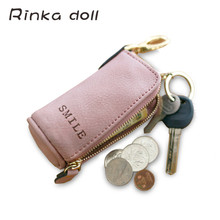 Rinka doll Women Coin Bag Fashion Cat Women Wallets Mini  Round Wallet Coin Purse Mini Convenient Simple Coin Purse Q300