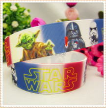 MD6632,free shipping 22mm Star Wars printed grosgrain ribbon,Clothing accessories accessories, wedding gift wrap ribbon