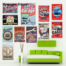 Dad's Garage Open Retro Metal Tin Sign Classic Car Bus Garage Service & Repair Wall Decoration Art Painting Iron Plaques YA094(China)