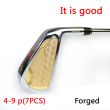 free shipping male golf clubs iron set right handed steel flex S /R 4-9,p 7 pcs/lot 2016 new(China)