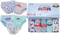 2017 Newest Promotion 5pc/lot Baby boy Panties London Bus Cotton Briefs for boys Car printing boys underwear Cartoon Print Brief(China)