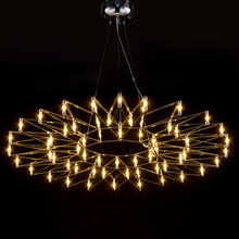 Nordic personalized bar counter led flower pendant light brief modern stainless steel Raimond LED Firework Lamp