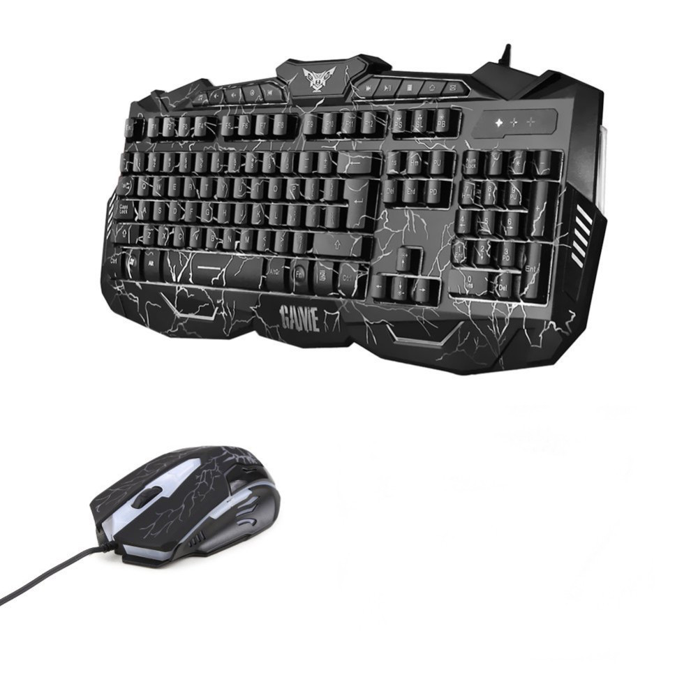 Gmilli Changeable LEDs with Luminous Backlit Multimedia Ergonomic Gaming Keyboard and Mouse Set for Windows 98/XP/2000/ME/VISTA
