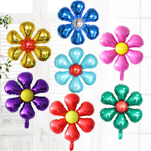 New arrive 5pcs/lot 5 petal flower Foil balloons inflatable air Globos,marriage room party decoration flower balloon Baloes.