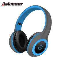 Askmeer T8 Wireless Bluetooth Headphone Foldable Stereo Earphone Headset Handsfree with Microphone Support TF Card Music Play