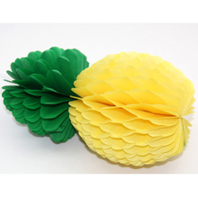 5Pcs Tropical Big Pineapple Honeycomb Centerpiece Table Luau Hawaiian Party Decorations High Quality