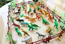Animals Figure,68 Piece Mini Jungle Animals Toys Set,Realistic Wild Vinyl Pastic Animal Learning Resource Party Toys