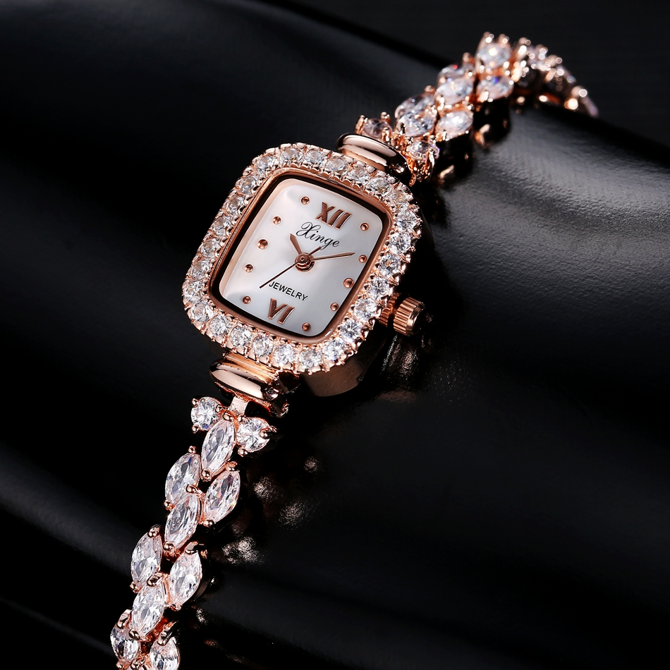 Xinge Luxury Women Gold Watches Women Bracelet Watch Business Quartz Wristwatches Ladies Dress Fashion Wrist Watch Female<br>
